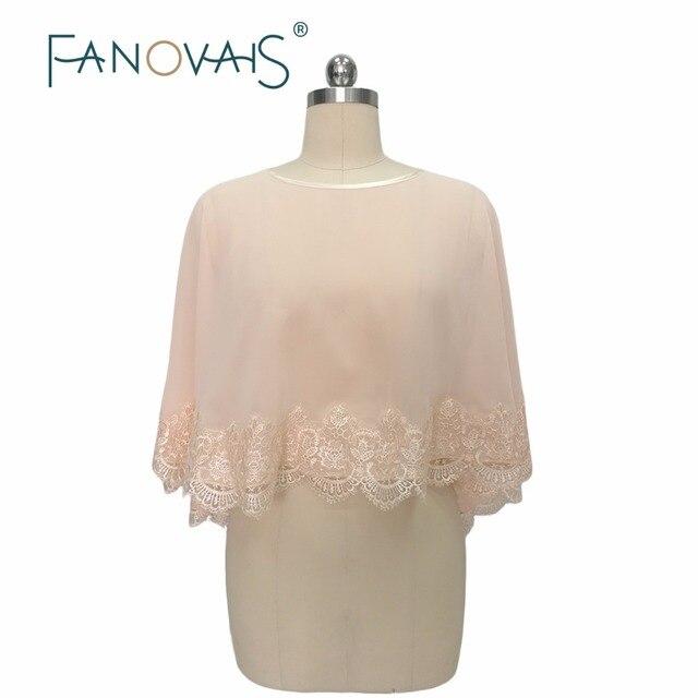 2017 Pink Lace Liques Wedding Bolero Custom Made Short Wrap Bridal Jacket