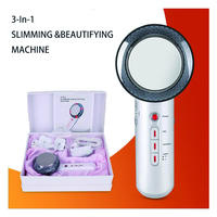 Face Lifting 3 in 1 EMS Infrared Ultrasonic Body Massager Device Ultrasound Slimming Fat Burner Cavitation Face Beauty Machine