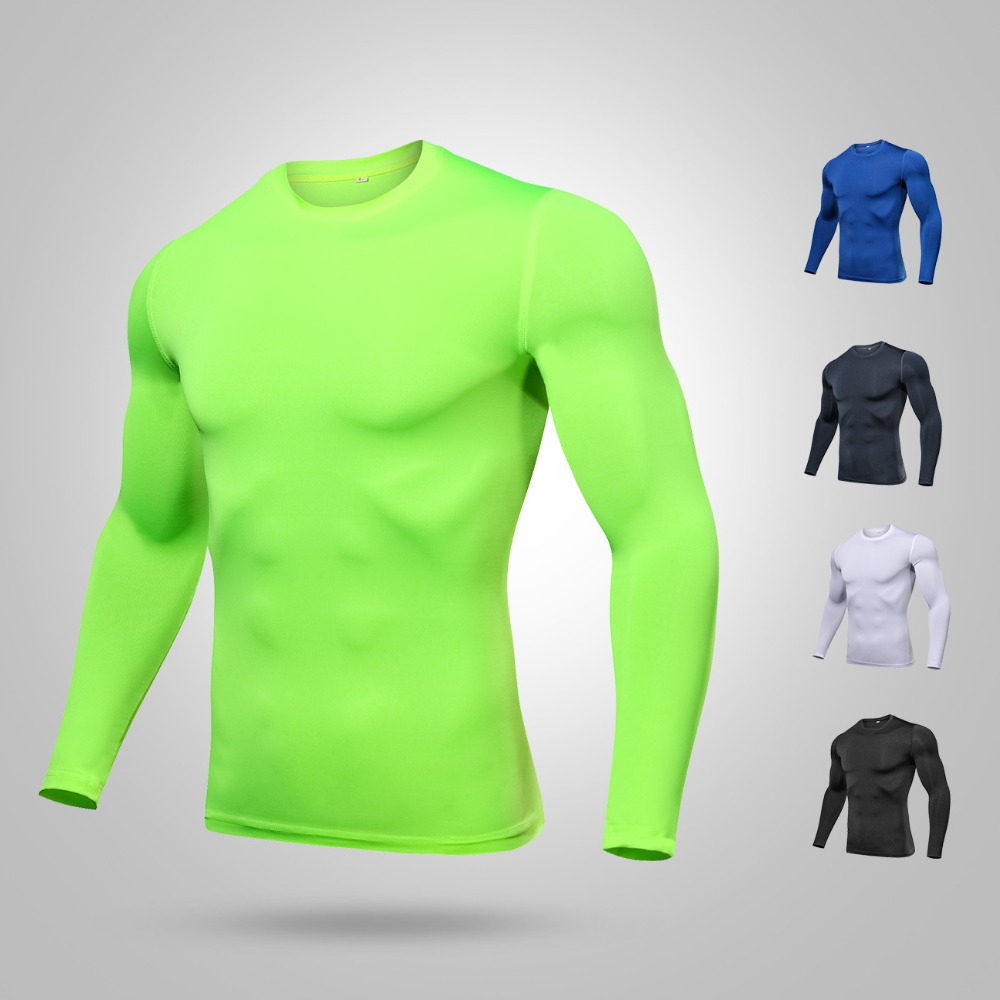 Quick Dry Man's Compression Shirt Long Sleeve Gym Fitness Jerseys Cycling Base Layer Sports Cycling Tights Bodybuilding Clothing