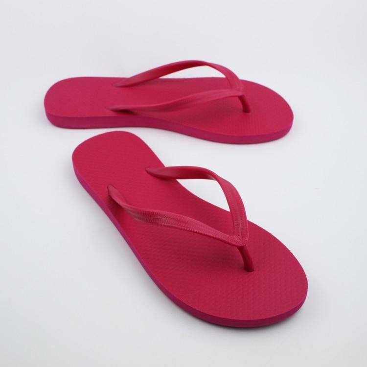 Ds 7 Women Wholesale Candy Color Rubber Foam Flip Flops -6727