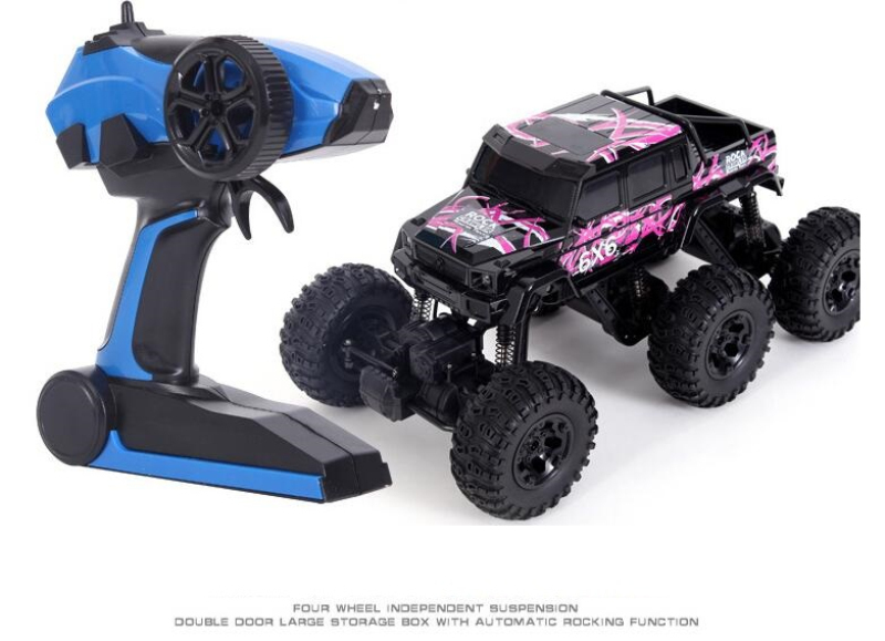 Remote Control car 1:8 6WD 2.4G Six wheel Bigfoot RC Rock Crawler RTR Climbing Car Cross-Country Vehicle Motors Off-Road Toy Kid