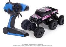 6WD 2.4G Enam roda Bigfoot Remote Control mobil 1:8 RC batu Crawler RTR Mobil Mendaki Lintas Negara Kendaraan Motor Off-Road Mainan Kid