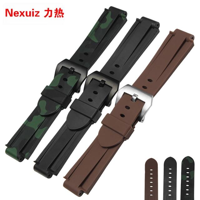 2016 HOT koop Rubber Horlogebanden, Waterdichte Siliconen Band, 24*16 MM armband voor t45601 t2n739, Horloge Accessoires