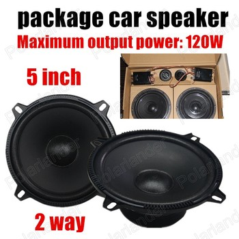 2pcs 5 inch best selling hot sale for all cars 2 way 2x120W Car Mini package Speaker Audio stereo speaker