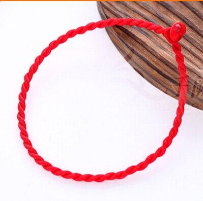 Rope-Bracelet Hand-Woven Diy Red Wholesale Men Women for 2-Pc/Lot Benmingnian
