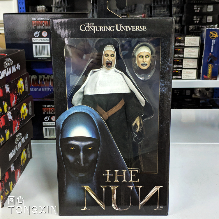 """NECA Horror The Nun PVC 7/"""" Valak Real Clothes Action Figure Collection Play Toy"""