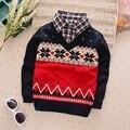 BibiCola faul Dos Piezas de bebé de la manera del suéter del invierno del otoño ropa de bebé niños/niñas chaqueta de punto suéter de la capa de Los Niños 2-6Y