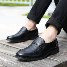 2017 New Arrival Dark Black Men Business Shoes Round Toe Wedding Flats High Quality Meeting Formal Shoes Zapatos Hombres