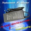 19 В 4.74A 5.5*2.5 мм 90 Вт Для ASUS Адаптер ПЕРЕМЕННОГО ТОКА Ноутбука Зарядное Устройство ADP-90AB АДФ-90CD DB A46C M50 X43B S5 W7 F25