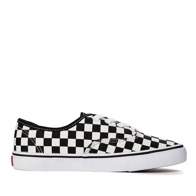 Lona Moda 2018 Zapatos Casual Clásicos Para Cómodos Con A slip Cordones Mocasines De Lace Negros Hombre Planos up Cuadros Blancos on 5PFP8wxqr