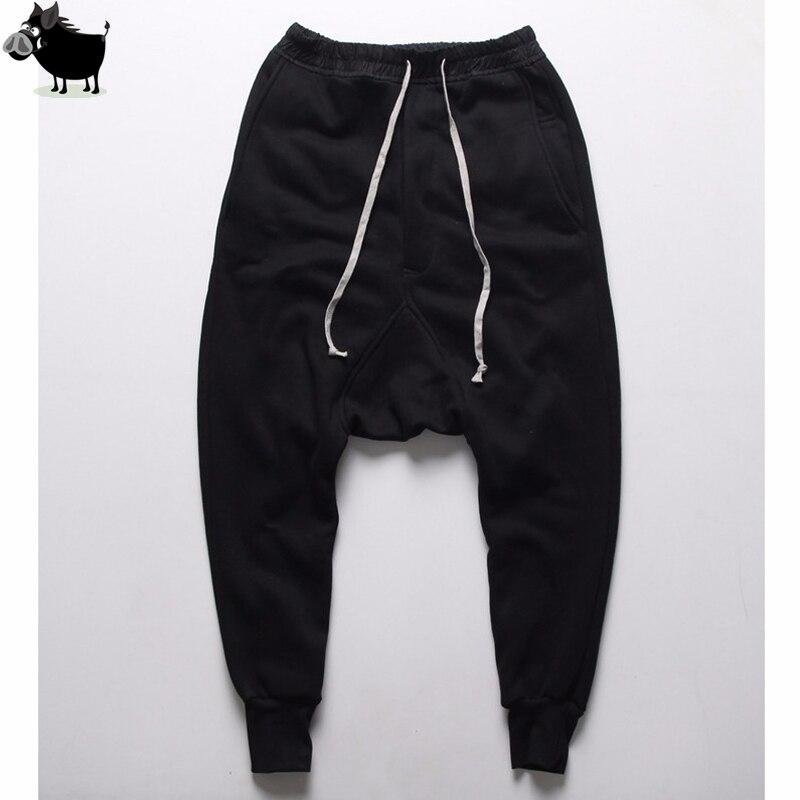 Férfi kocogók Alkalmi nadrágok harem nadrágok Férfi fekete - Férfi ruházat