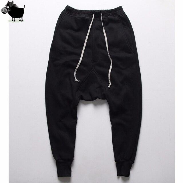 Mens joggers Casual trousers harem pants Men black Fashion swag dance drop crotch Hip Hop sweat pants sweatpants