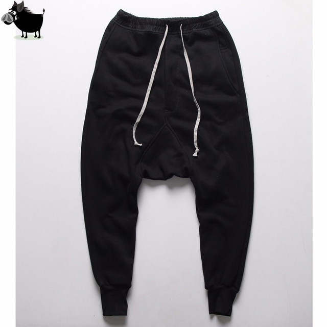 856e5cd72df89 Mens joggers Casual trousers harem pants Men black Fashion swag dance drop  crotch Hip Hop sweat pants sweatpants. 3 orders