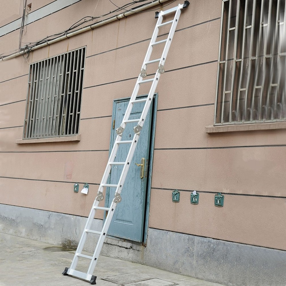 4x3 90cm Multifunctional Folding Ladder Aluminum Telescopic Ladder For Industrial Or Household 2017 new multi purpose folding aluminum ladder household airfoil ladder or clothes hanger loading 150kg
