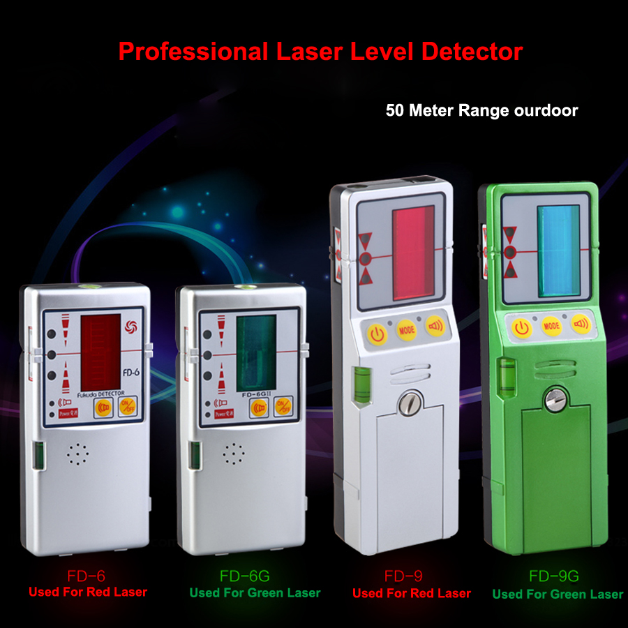 50m Automatic High Precision Red And Green Laser Level Detector For Laser Level high quality southern laser cast line instrument marking device 4lines ml313 the laser level