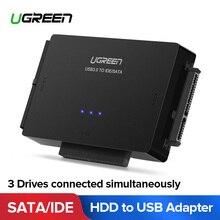 Ugreen SATA к USB IDE адаптер USB 3,0 2,0 Sata 3 кабель для 2,5 3,5 жесткого диска HDD SSD USB конвертер переходник ide-sata