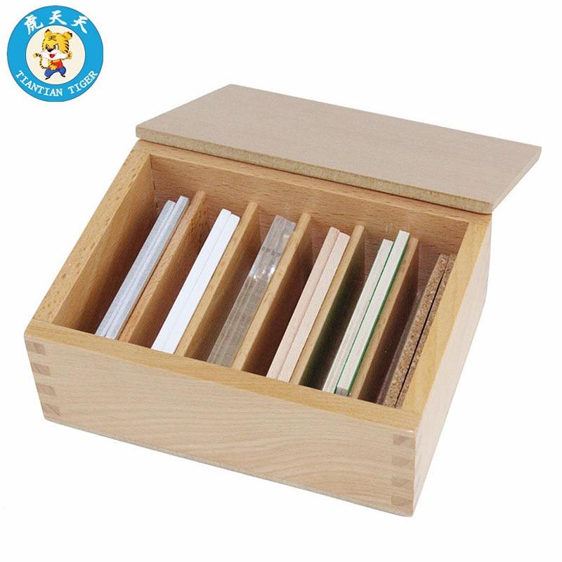 Matériel Montessori Sensorielle Jouets Bébé En Bois Jouets Éducatifs 6 Paires de Thermique Comprimés Avec la Boîte