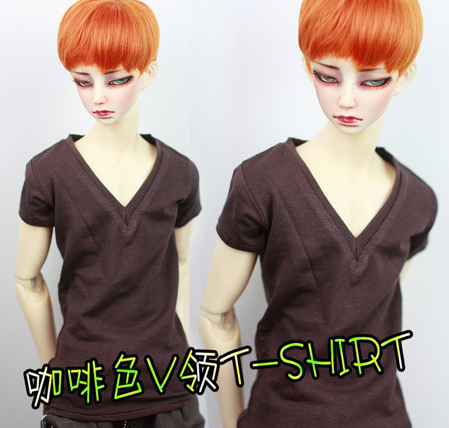 Fashion coffee T-shirt   For BJD 1/4 1/3  uncle SD17 BJD SD Doll Clothes Accessories