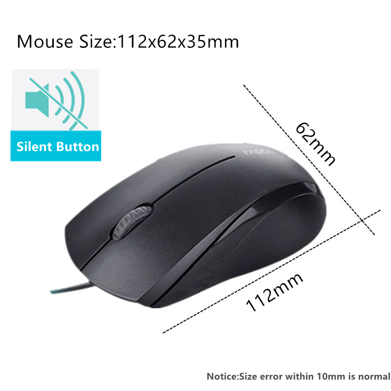 High-Quality-Rapoo-Wired-Silent-Mouse-1000DPI-Optical-USB-Gaming-Mouse-for-Macbook-Laptop-Computer