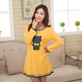 Nightgown women 2017 spring and autumn  long-sleeve cotton sleepwear female sleepshirts plus size XL XXL