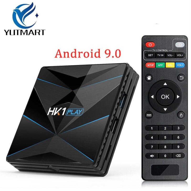 Nieuwe HK1 Spelen smart tv box android 9.0 Amlogic S905X2 4G32GB/64GB 2.4G/5G WiFi USB 3.0 BT4.0 H.265 4K mediaspeler set top box-in Set-top Boxes van Consumentenelektronica op  Groep 1