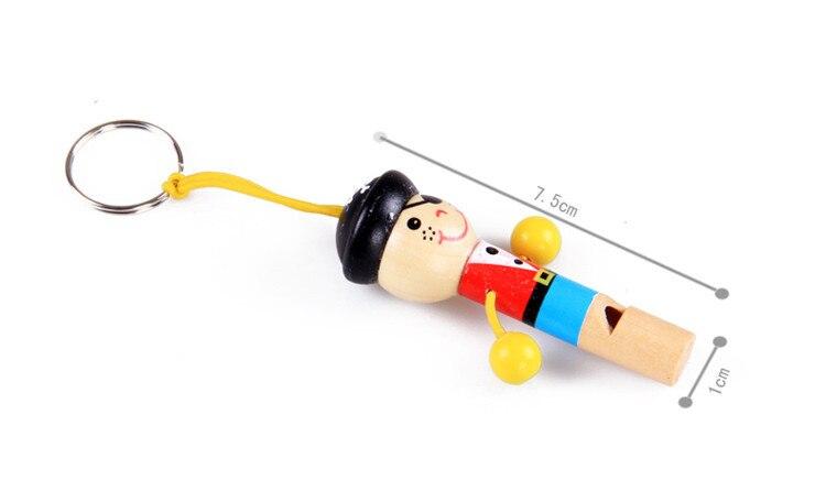 Купить с кэшбэком Baby Toys Boy Pirate Whistle 30Pcs/Lot Wooden Whistling Educational Toys Child Whistle Wooden Toys Child Gift Musical Instrument