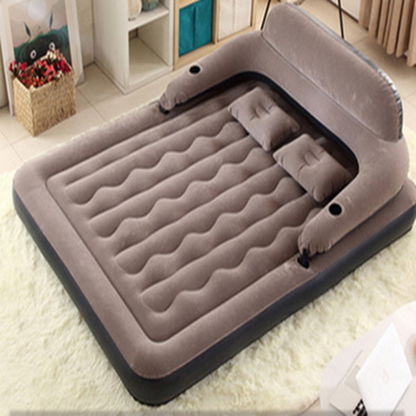 200x150x20cm Inflatable air mattress bed PVC air mattresses airbed with flocking surface for