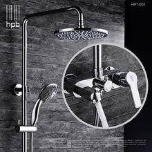 HPB Messing Bad Heißem Und Kaltem Wasser Mixer Badewanne Dusche Wasserhahn Set torneira banheiro Duschkopf HP1001
