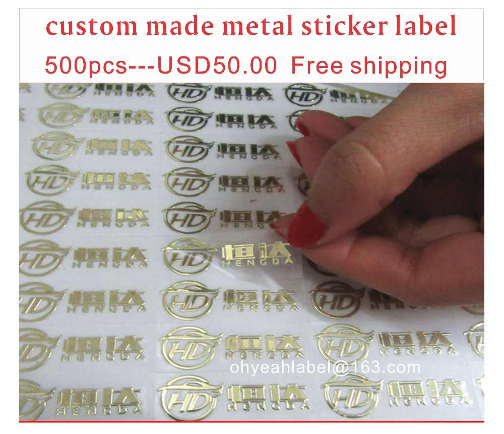 Detail feedback questions about custom name logo metal stickers