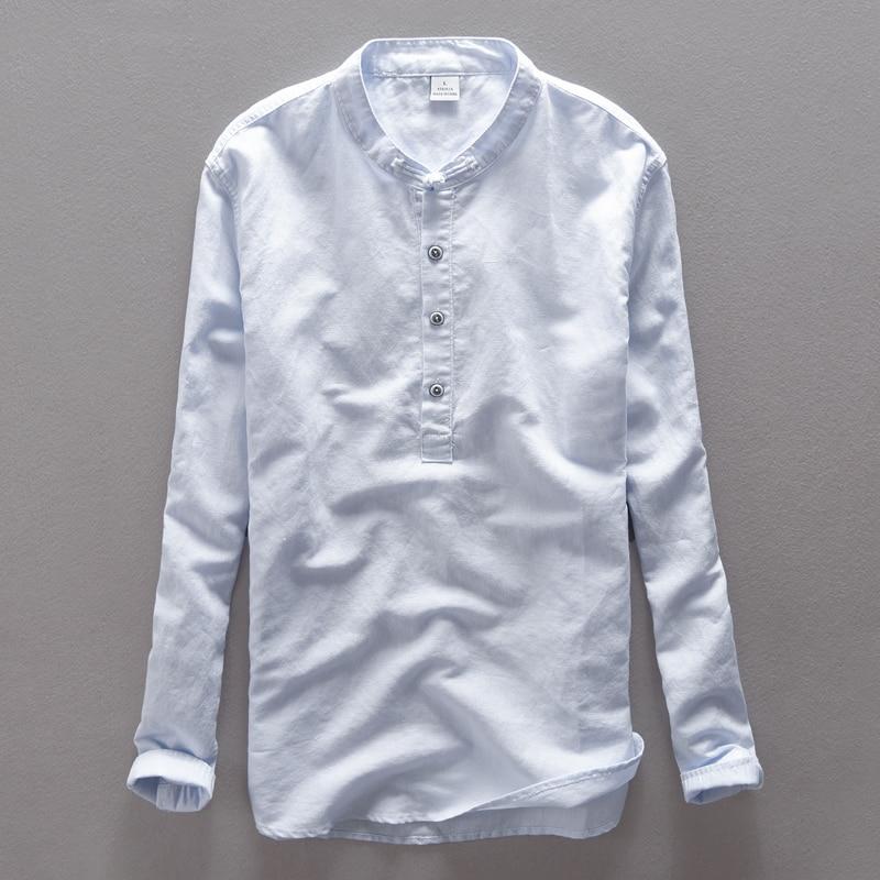 Italija Suhaiwe's blagovna znamka bombažna moška srajca z dolgimi - Moška oblačila - Fotografija 1
