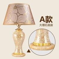 Модные настольная лампа спальня ночники стекла, настольные лампы, украшения