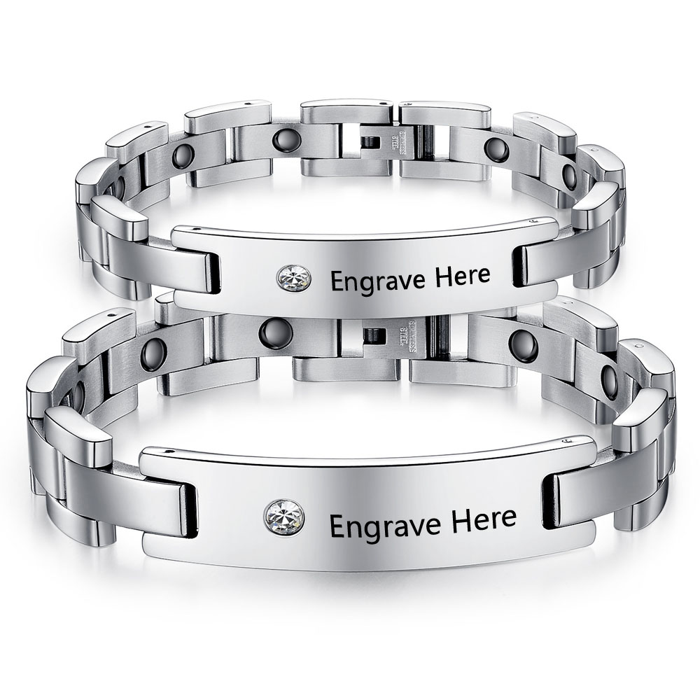 Popular Engraved Couples Bracelets-Buy Cheap Engraved Couples ...