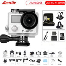 Action Camera 4K 3840×2160 Wifi Ultra HD 170D Go 30M Waterproof Mini Cam Pro Double Screen Hero 4 style Sports Camera