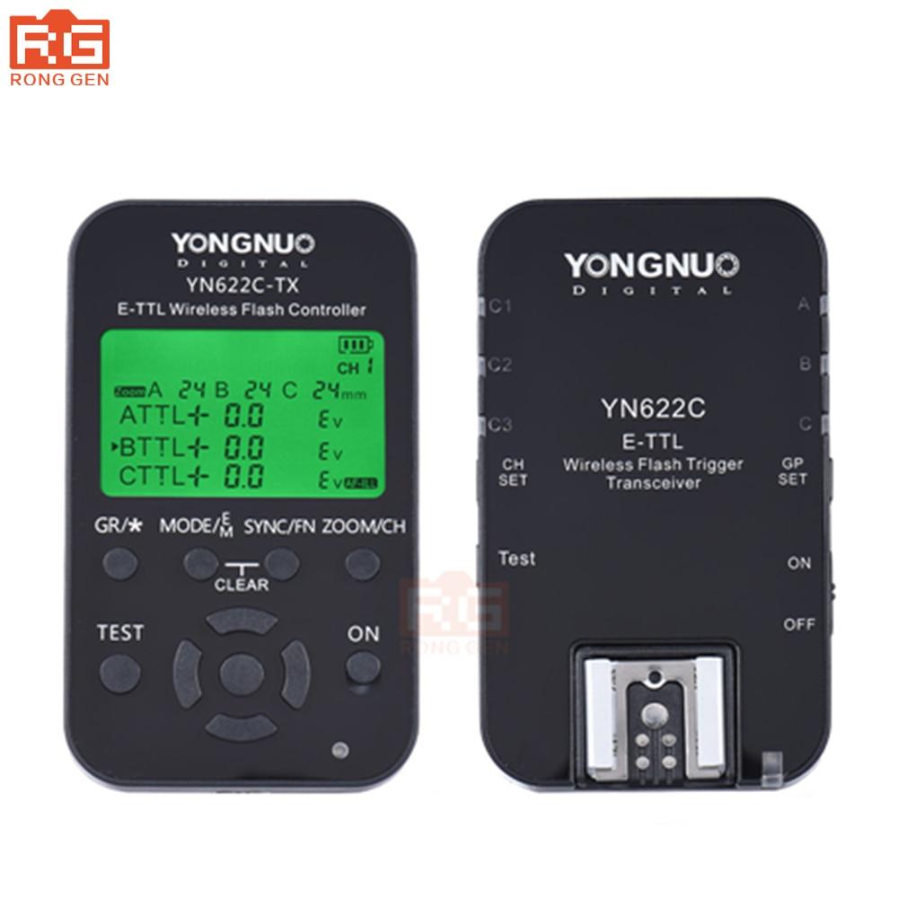 Yongnuo YN 622C kit, YN-622C Sans Fil TTL HSS 1/8000 S Déclencheur Flash contrôleur + Émetteur-Récepteur pour Canon 1100D 1000D 650D 600D
