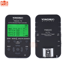 YONGNUO YN 622C комплект, YN-622C Беспроводной ETTL HSS 1/8000 s Flash триггера контроллер + трансивер для Canon 1100D 1000D 650D 600D