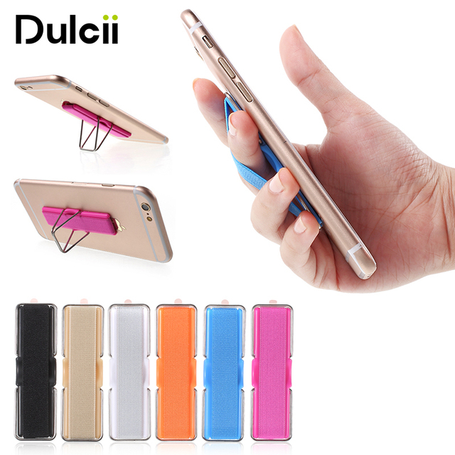 dulcii Universal Phone Holder for Samsung Finger Grip Elastic Band Strap Phone Holder with Stand for iPhone Tablets