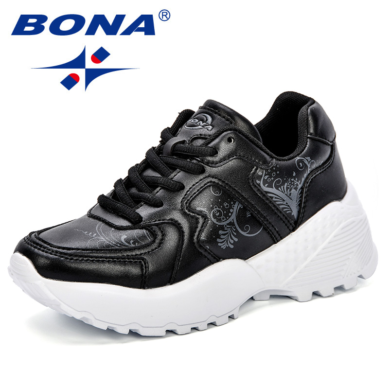 BONA Fashion Women Casual Shoes Sneakers Women Shoes Breathable Microfiber Flats Shoes Woman Chaussures Femme Zapatos