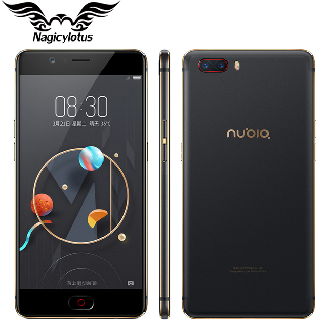 2017 Original ZTE Nubia M2 4G LTE Mobile Phone 4GB RAM 64GB ROM Octa Core 5.5inch 16MP Dual 13MP Android N 3000mAh SmartPhone