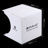 PULUZ Mini Studio Tent Lightroom Softbox Photography Accessory 2x Led Panels Cool White + Shadowless Light Panel Backdrops