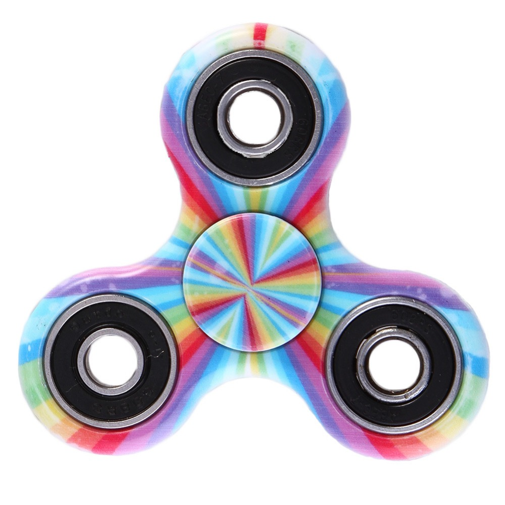 Colored ABS Children Toy EDC Three Corner Hand Spinner For Autism and ADHD Anxiety Stress Relief Focus Toys Kids Gift