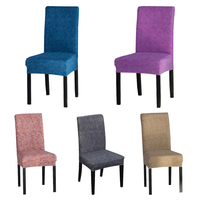 Solid Color Spandex Elastic Chair protector Slipcover Kitchen Dining Chair Cover Removable Seat Case for Banquet Decor