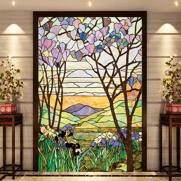 Church windows and doors mosaic art glass film xuan kwong - Film de survitrage ...