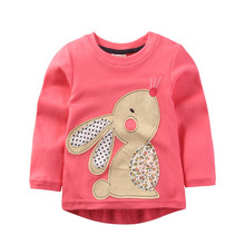 Jumpingbaby 2017 Girls T Shirt Baby Girl Clothes Kids Long Sleeve T-Shirts Cotton Camiseta T-shirt Roupas Infantis Menina Rabbit