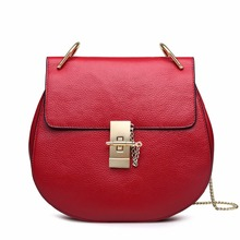 hot selling popular luxury design world women's leather bag with high quality work and cow skin t chain shoulder bag purse small