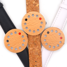 Newest BoboBird Brand 12 Holes Design Wooden Watches Cool Causal quartz watch leather band Wood as Christmas Gift accept OEM