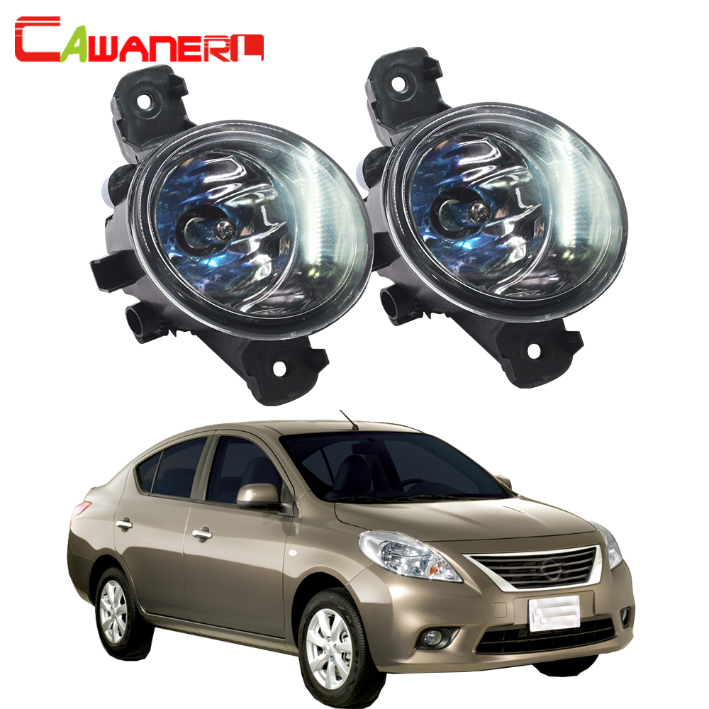 Cawanerl 2 Pieces 100W H11 Car Halogen Bulb Fog Light DRL Daytime Running Lamp For Nissan Almera 2/II Saloon (N16) 2001-2006 cawanerl 2 x car led fog light drl daytime running lamp accessories for nissan note e11 mpv 2006