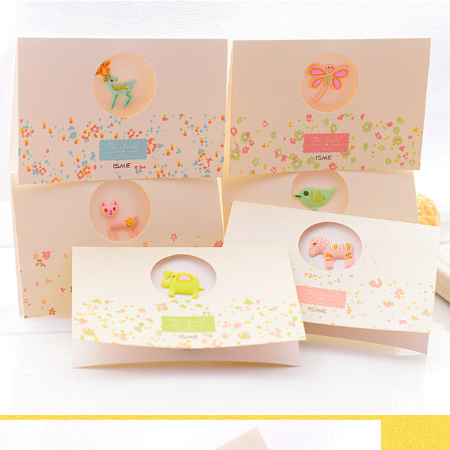 6 pcs cute mini lovely girl kids family birthday cards greeting 6 pcs cute mini lovely girl kids family birthday cards greeting cards christmas cards cartoon retail m4hsunfo