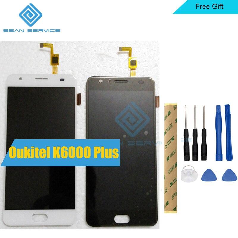 100% Oukitel K6000 Più Display LCD e di Tocco Dello Schermo di 5.5