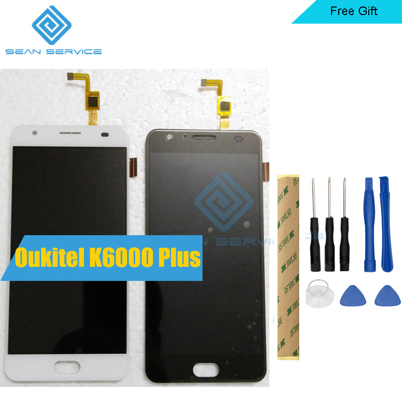 100% Oukitel K6000 Plus pantalla LCD y pantalla táctil de 5,5