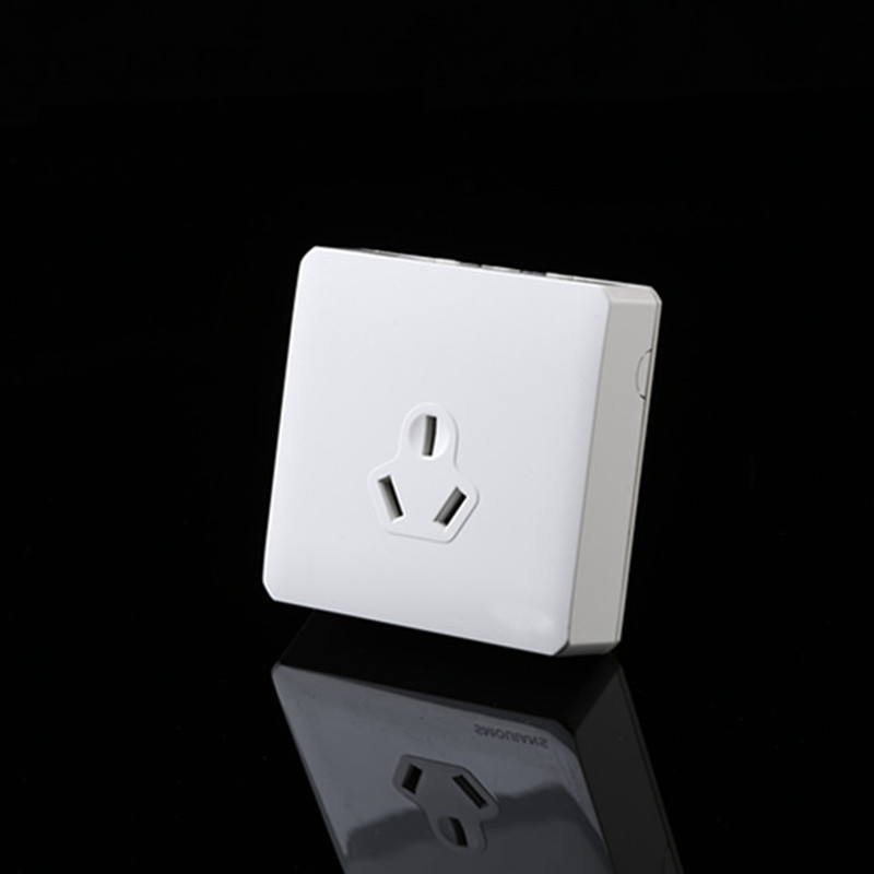 Free Shipping,KM001EU-W White Surface Mounted 3 pins Wall Socket 16A socket,CN ,AU 16A Plug for air conditioner
